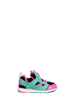 Main View - Click To Enlarge - Reebok - 'Versa Pump Fury SYN' animal print toddler sneakers