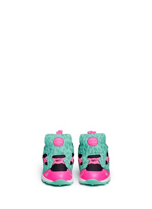 Figure View - Click To Enlarge - Reebok - 'Versa Pump Fury SYN' animal print toddler sneakers