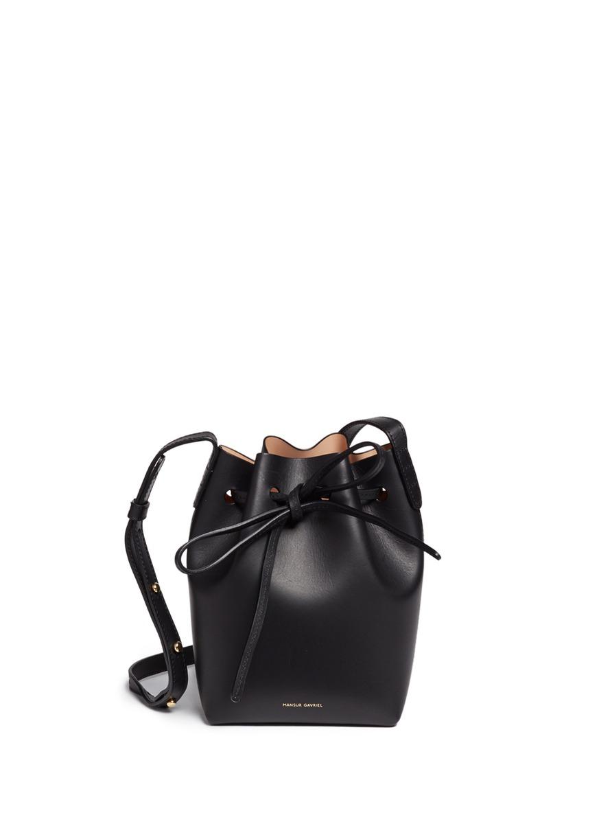 Mini Mini leather bucket bag by Mansur Gavriel