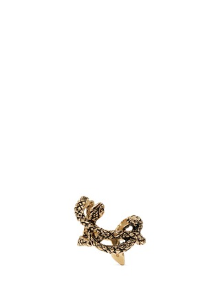 Main View - Click To Enlarge - Saint Laurent - 'Monogram' serpent brass ring