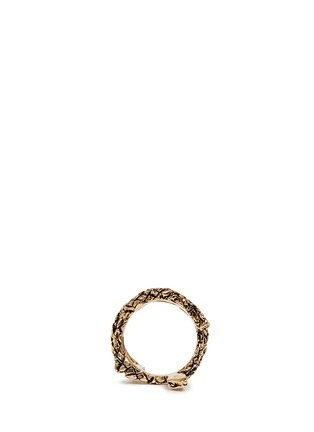 Figure View - Click To Enlarge - Saint Laurent - 'Monogram' serpent brass ring