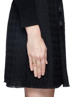 Spinelli Kilcollin'Sonny SP' diamond 18k rose gold four link ring