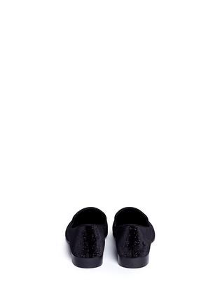 背面 - 点击放大 - GIUSEPPE ZANOTTI DESIGN - 金属鞋头绒面平底便鞋