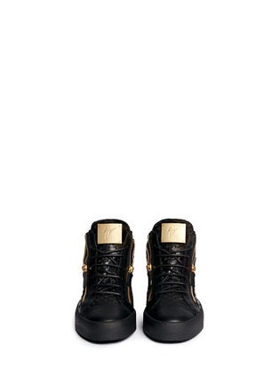 Figure View - Click To Enlarge - Giuseppe Zanotti Design - 'May London' perforated mid top sneakers