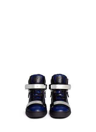 Figure View - Click To Enlarge - Giuseppe Zanotti Design - 'May London' croc-embossed leather high-top sneakers