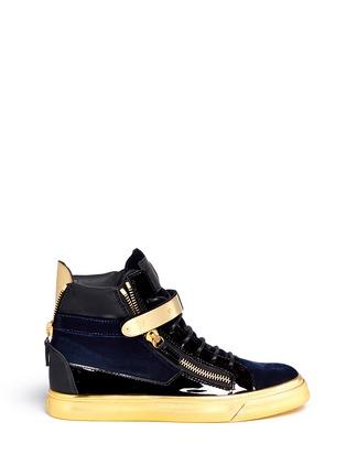 首图 - 点击放大 - GIUSEPPE ZANOTTI DESIGN - LONDON鳄鱼纹金属搭扣高筒运动鞋