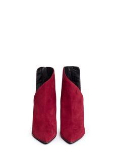 GIUSEPPE ZANOTTI DESIGN'Lucrezia' V cutout suede ankle boots