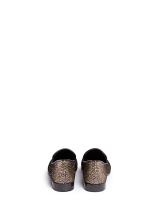 Back View - Click To Enlarge - Giuseppe Zanotti Design - 'Kevin' metal cap glitter mesh slip-ons