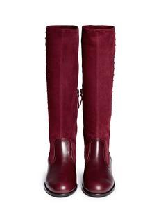 ALEXANDER MCQUEENStud suede leather boots