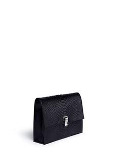 Proenza Schouler'Lunch Bag' large matte python leather bag