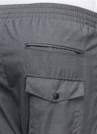 Detail View - Click To Enlarge - MAURO GRIFONI - Elastic waist fleece wool pants