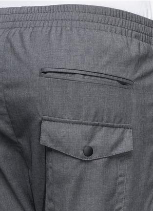 细节 - 点击放大 - MAURO GRIFONI - 深蓝色胶块拼贴长裤