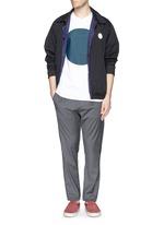 Elastic waist fleece wool pants