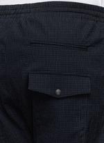 Elastic waist stripe seersucker pants