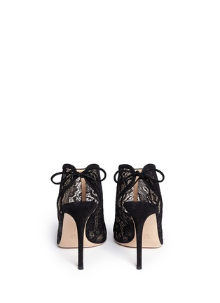 Back View - Click To Enlarge - Gianvito Rossi - Lace peep toe booties
