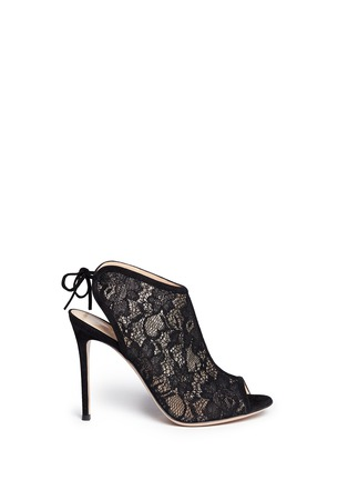 Main View - Click To Enlarge - Gianvito Rossi - Lace peep toe booties