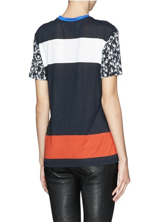 Back View - Click To Enlarge - PRABAL GURUNG - Graphic modal jersey T-shirt