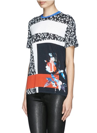 Front View - Click To Enlarge - PRABAL GURUNG - Graphic modal jersey T-shirt