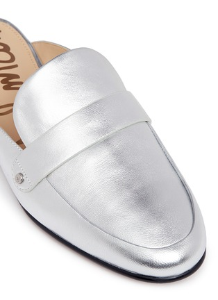 Detail View - Click To Enlarge - Sam Edelman - 'Perri' leather loafer slides