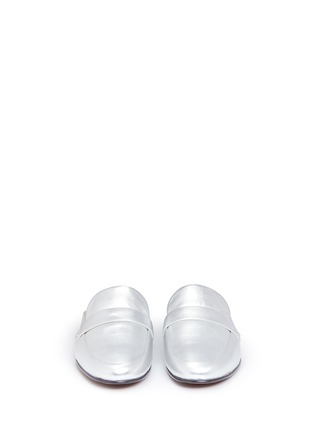 Front View - Click To Enlarge - Sam Edelman - 'Perri' leather loafer slides