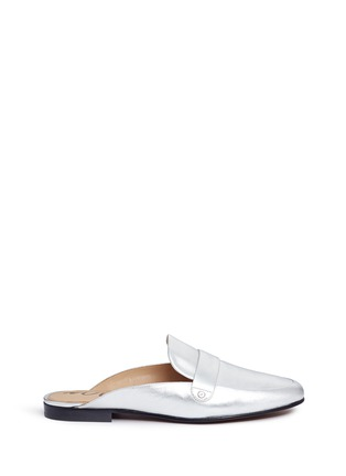 Main View - Click To Enlarge - Sam Edelman - 'Perri' leather loafer slides