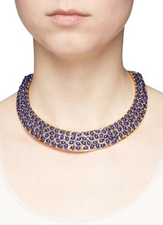 Kenneth Jay LaneResin bead gold plated torque necklace