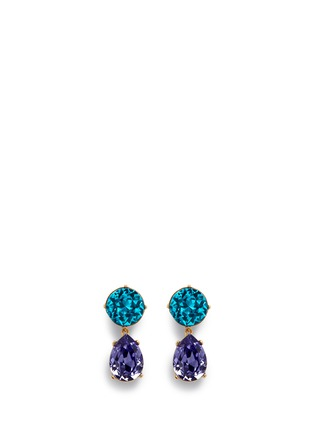 Main View - Click To Enlarge - Kenneth Jay Lane - Glass crystal pear drop clip earrings