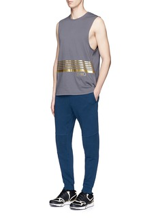 The UpsidePanelled cotton French terry drawstring jogging pants