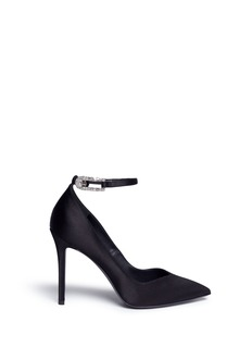 Stella Luna Strass buckle satin pumps