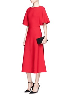 ValentinoCapelet sleeve ponte knit dress