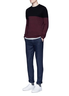 Topman Colourblock crew neck sweater