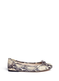 Sam Edelman 'Felicia' snakeskin embossed leather ballet flats