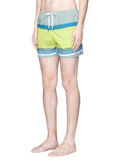 DANWARD Mid length geometric print swim shorts