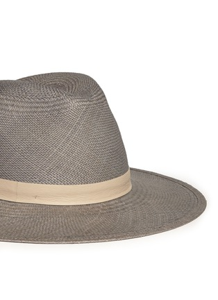 Janessa Leone - 'Bailey' leather band straw Panama hat