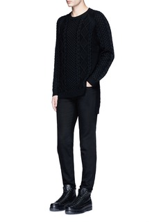 Ports 1961 Cable knit wool sweater