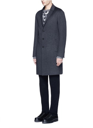 Front View - Click To Enlarge - Ports 1961 - Wool-angora-cashmere flannel coat