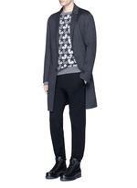 Wool-angora-cashmere flannel coat
