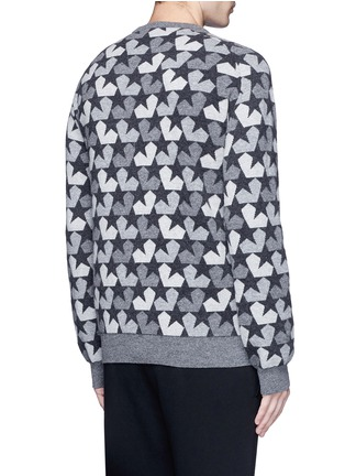 Back View - Click To Enlarge - Ports 1961 - Star camouflage jacquard wool sweater