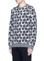 Star camouflage jacquard wool sweater