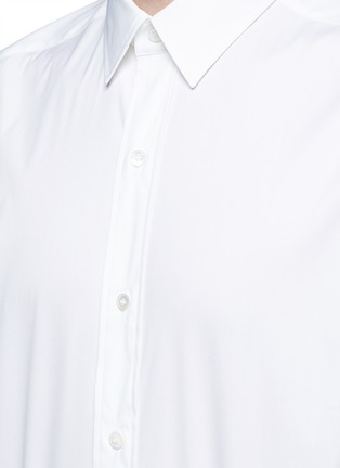 Detail View - Click To Enlarge - Ports 1961 - Side tie stretch cotton poplin shirt