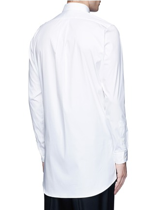 Back View - Click To Enlarge - Ports 1961 - Side tie stretch cotton poplin shirt