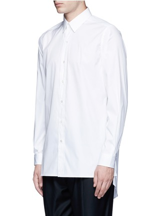 Front View - Click To Enlarge - Ports 1961 - Side tie stretch cotton poplin shirt