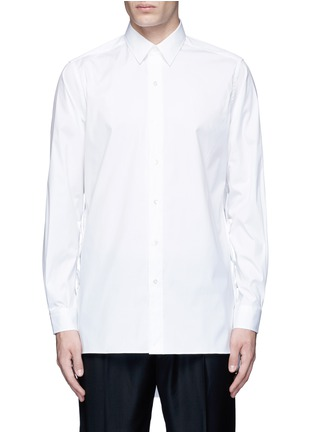 Main View - Click To Enlarge - Ports 1961 - Side tie stretch cotton poplin shirt