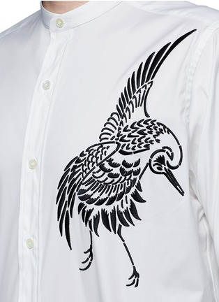 Detail View - Click To Enlarge - Ports 1961 - Bird embroidered cotton shirt