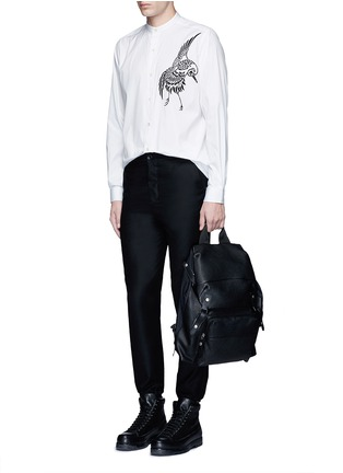 Figure View - Click To Enlarge - Ports 1961 - Bird embroidered cotton shirt
