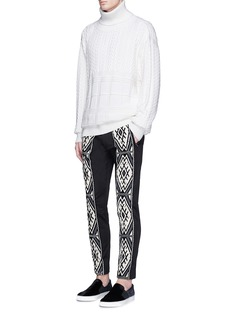 Ports 1961 Tribal embroidered stripe pants