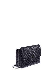 Valentino'Rockstud Spike' large cracked effect leather bag