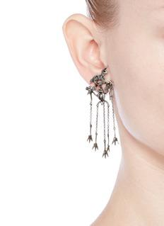 ValentinoUnicorn chandelier earrings