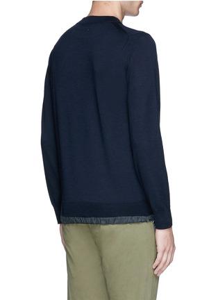 Back View - Click To Enlarge - Sacai - Drawstring hem wool sweater