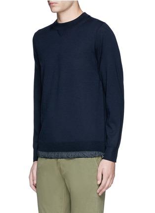 Front View - Click To Enlarge - Sacai - Drawstring hem wool sweater